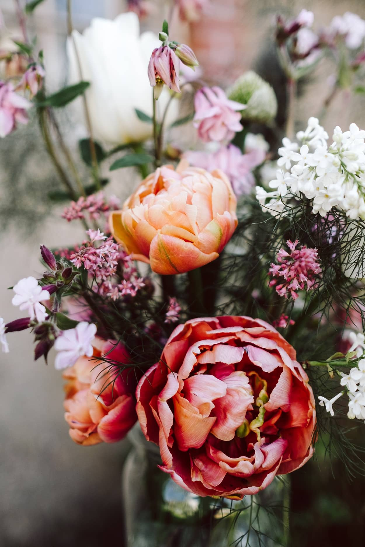 Kess InHouse Dawid ROC Bright Rose Abstract Green Floral Decorative Door 2 x 3 Floor Mat